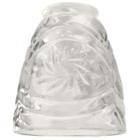 Craftmade 317 Signature Clear Starburst Fan Glass, Cone