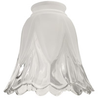 Signature Frost and Clear Fan Glass, Scalloped Bell