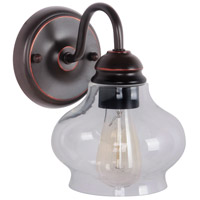 Yorktown 1 Light 6 inch Oil Rubbed Gilded Wall Sconce Wall Light in Oiled Bronze Gilded