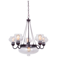 Yorktown 6 Light 29 inch Oil Rubbed Gilded Chandelier Ceiling Light in Oiled Bronze Gilded