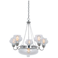 Yorktown 6 Light 29 inch Polished Nickel Chandelier Ceiling Light