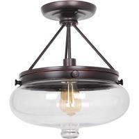 Craftmade 35051-OBG Yorktown 1 Light 13 inch Oil Rubbed Gilded Semi-Flushmount Ceiling Light in Oiled Bronze Gilded
