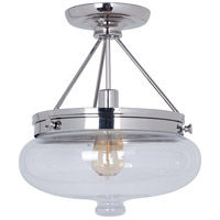 Jeremiah by Craftmade Yorktown 1 Light Semi-Flush in Polished Nickel 35051-PLN