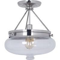 Craftmade 35051-PLN Yorktown 1 Light 13 inch Polished Nickel Semi-Flushmount Ceiling Light