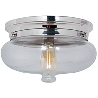 Jeremiah by Craftmade Yorktown 1 Light Flushmount in Polished Nickel 35081-PLN