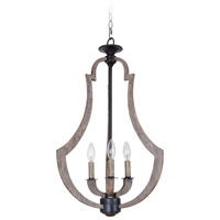Winton 3 Light 17 inch Weathered Pine and Bronze Foyer Light Ceiling Light