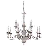 Jeremiah by Craftmade Rosedale 12 Light Chandelier in Antiqu White and Bronze Distressed 35212-AWBD