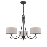 Jeremiah by Craftmade Ridgelea 3 Light Chandelier in Textured Black 35723-TB