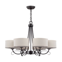 Jeremiah by Craftmade Ridgelea 6 Light Chandelier in Textured Black 35726-TB
