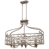 Craftmade 35826-AO Worthington 6 Light 33 inch Athenian Obol Linear Chandelier Ceiling Light