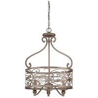 Worthington 3 Light 20 inch Athenian Obol Foyer Light Ceiling Light
