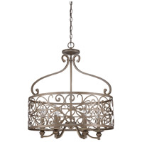 Jeremiah by Craftmade Worthington 6 Light Entry Pendant in Athenian Obol 35836-AO