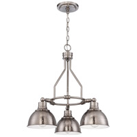 Timarron 3 Light 23 inch Antique Nickel Down Chandelier Ceiling Light