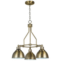 Craftmade 35923-LB Timarron 3 Light 23 inch Legacy Brass Down Chandelier Ceiling Light