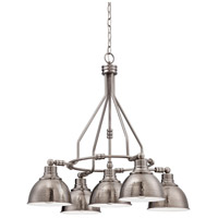 Timarron 5 Light 30 inch Antique Nickel Down Chandelier Ceiling Light