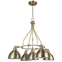 Craftmade 35925-LB Timarron 5 Light 30 inch Legacy Brass Chandelier Ceiling Light