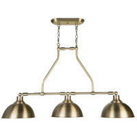 Craftmade 35973-LB Timarron 3 Light 32 inch Legacy Brass Island Light Ceiling Light