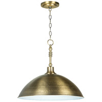 Jeremiah by Craftmade Timarron 1 Light Pendant in Legacy Brass 35993-LB