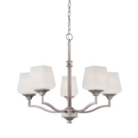 Jeremiah by Craftmade Cortland 5 Light Chandelier in Brushed Nickel 36025-BNK