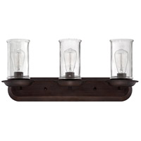 Jeremiah by Craftmade Thornton 3 Light Vanity Light in Aged Bronze 36103-ABZ