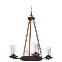 Jeremiah by Craftmade Thornton 4 Light Chandelier in Aged Bronze 36124-ABZ