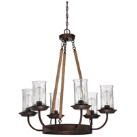 Jeremiah by Craftmade Thornton 6 Light Chandelier in Aged Bronze 36126-ABZ