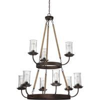 Craftmade 36129-ABZ Thornton 9 Light 40 inch Aged Bronze Brushed Chandelier Ceiling Light