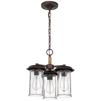 Jeremiah by Craftmade Thornton 3 Light Convertible Semi-Flush Pendant in Aged Bronze 36153-ABZ