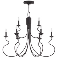 Jeremiah by Craftmade Clarion 9 Light Chandelier in Aged Bronze 36229-ABZ