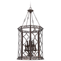 Evangeline 8 Light 19 inch Peruvian Bronze Foyer Light Ceiling Light