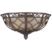 Evangeline 1 Light 13 inch Peruvian Bronze Half Wall Sconce Wall Light in Amber Frost Glass
