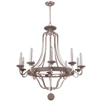 Craftmade 36510-PLNGRW Ashwood 10 Light 39 inch Polished Nickel and Greywood Chandelier Ceiling Light