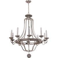 Craftmade 36510-PLNGRW Ashwood 10 Light 39 inch Polished Nickel and Greywood Chandelier Ceiling Light