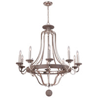 Craftmade 36510-PLNGRW Ashwood 10 Light 39 inch Polished Nickel and Greywood Chandelier Ceiling Light alternative photo thumbnail