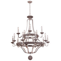 Craftmade 36515-PLNGRW Ashwood 15 Light 44 inch Polished Nickel and Greywood Chandelier Ceiling Light alternative photo thumbnail
