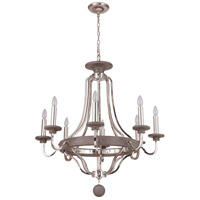 Craftmade 36528-PLNGRW Ashwood 8 Light 33 inch Polished Nickel and Greywood Chandelier Ceiling Light