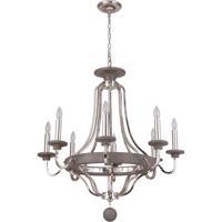 Craftmade 36528-PLNGRW Ashwood 8 Light 33 inch Polished Nickel and Greywood Chandelier Ceiling Light