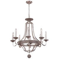 Craftmade 36528-PLNGRW Ashwood 8 Light 33 inch Polished Nickel and Greywood Chandelier Ceiling Light alternative photo thumbnail
