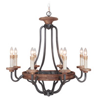 Craftmade 36528-TBWB Ashwood 8 Light 33 inch Textured Black/Whiskey Barrel Chandelier Ceiling Light in Textured Black and Whiskey Barrel alternative photo thumbnail