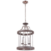 Craftmade 36533-PLNGRW Ashwood 3 Light 16 inch Polished Nickel and Greywood Foyer Light Ceiling Light