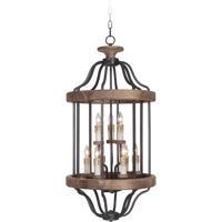 Craftmade 36539-TBWB Ashwood 9 Light 20 inch Textured Black and Whiskey Barrel Foyer Light Ceiling Light