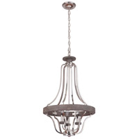 Craftmade 36543-PLNGRW Ashwood 3 Light 20 inch Polished Nickel and Greywood Pendant Ceiling Light