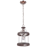 Craftmade 36591-PLNGRW Ashwood 1 Light 10 inch Polished Nickel and Greywood Mini Pendant Ceiling Light photo thumbnail