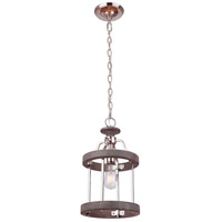 Craftmade 36591-PLNGRW Ashwood 1 Light 10 inch Polished Nickel and Greywood Mini Pendant Ceiling Light alternative photo thumbnail