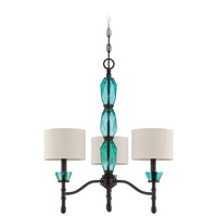 Emory 3 Light 23 inch Ravens Wash Chandelier Ceiling Light
