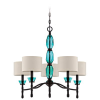 Jeremiah by Craftmade Emory 5 Light Chandelier in Ravens Wash 36625-RW