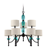 Jeremiah by Craftmade Emory 9 Light Chandelier in Ravens Wash 36629-RW