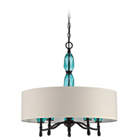 Jeremiah by Craftmade Emory 5 Light Foyer in Ravens Wash 36635-RW