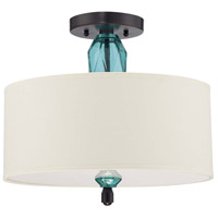 Jeremiah by Craftmade Emory 2 Light Semi-Flush in Ravens Wash 36652-RW
