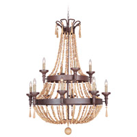 Jeremiah by Craftmade Berkshire 12 Light Chandelier in Aged Bronze Textured 36812-AG